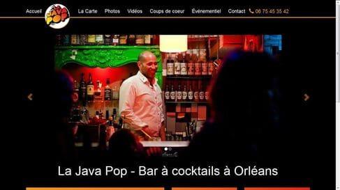 Website development for Bar la Java Pop