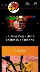 Website development for Bar la Java Pop - Mobile