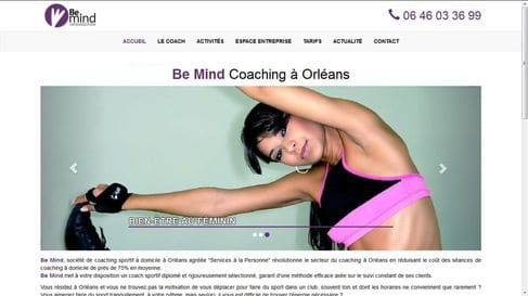 SEO and website development for BeMind Coaching
