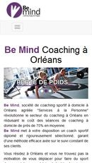 SEO and website development for BeMind Coaching - Mobile