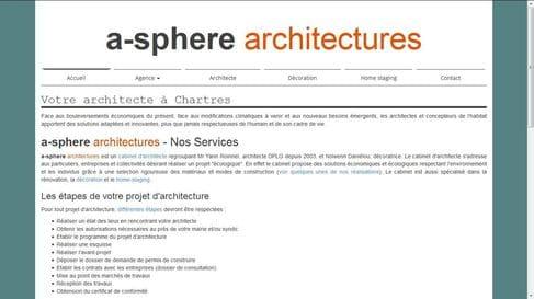 Référencement et refonte du site internet de A-sphère Architectures