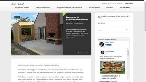 Référencement et refonte du site internet de Architecte d'intérieur Bellissimmo