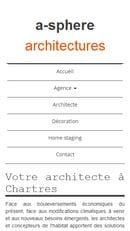 Référencement et refonte du site internet de A-sphère Architectures - Mobile