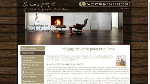 Référencement et refonte du site internet de Samassi Parquet