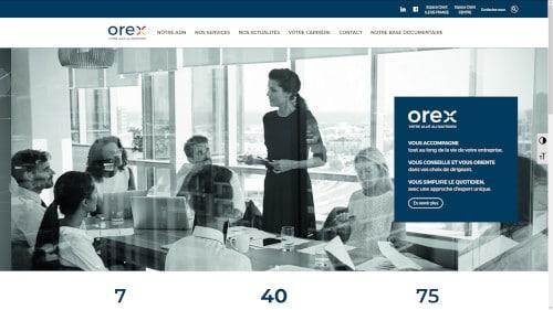 Création du site internet de Orex