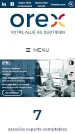 Référencement du site internet Orex - Mobile
